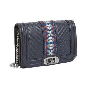 NWTs Rebecca Minkoff Jacquard Love Crossbody Bag